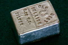 VIEUX LINGOT OCCIDENTAL - 6 05 Troy Ounce Silver Bar Photographie stock libre de droits