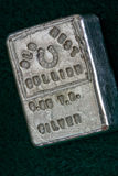 VIEUX LINGOT OCCIDENTAL - 6 05 Troy Ounce Silver Bar Images libres de droits
