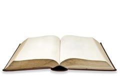 Vieux livre avec la page blanc Photos stock