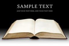 Vieux livre avec la page blanc Images libres de droits