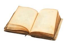 Vieux livre avec les pages blanc Photo stock