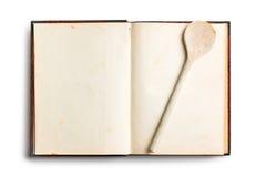 Vieux livre blanc de recette Images stock