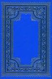 Vieux livre bleu profond antique Images stock