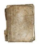 Vieux livre déchiré en lambeaux - livre broché - sur le fond blanc photo stock