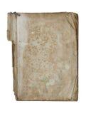 Vieux livre déchiré en lambeaux - livre broché - sur le fond blanc Photo libre de droits