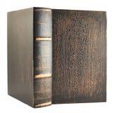Vieux livre en bois de couverture Images libres de droits