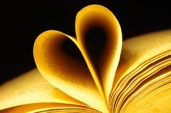 Vieux livre et coeur Image libre de droits