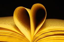 Vieux livre et coeur Image stock