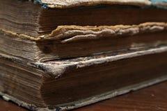 Vieux livre Feuilles d'un vieux livre Macro image stock