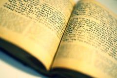 Vieux livre juif gentil Photos stock