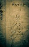 Vieux livre médical chinois Image libre de droits