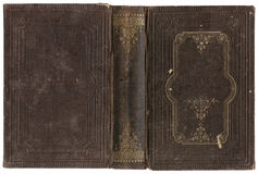 Vieux livre ouvert Images stock
