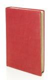 Vieux livre rouge d'isolement sur le blanc avec le chemin de découpage. Image stock