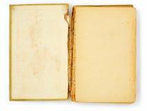 Vieux livre sur le blanc Images libres de droits