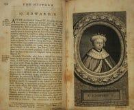 Vieux livre, 1759, utilisant la lettre f pour la lettre s Image stock