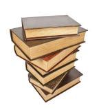 Vieux livres antiques sur un fond blanc Photos stock