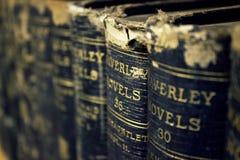 Vieux livres avec le foyer sélectif Images libres de droits