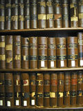 Vieux livres de loi du Texas Photos stock