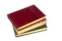 Vieux livres de vintage d'isolement sur le fond blanc Image libre de droits