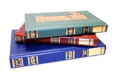 Vieux livres empilés Photo libre de droits