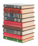 Vieux livres empilés dans une pile Photo stock