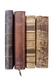 Vieux livres en cuir image stock