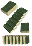 Vieux livres et escaliers verts Images stock