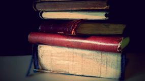 Vieux livres Heure pour le relevé Photo stock