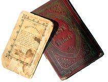 Vieux livres juifs  photographie stock