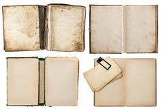 Vieux livres réglés avec les pages sales Photo libre de droits