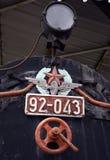 Vieux locomotives et chariots Images stock