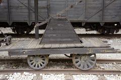 Vieux locomotives et chariots Photographie stock