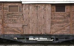 Vieux locomotives et chariots Image stock