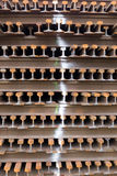 Vieux longerons rouillés Image stock