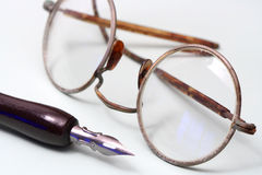 Vieux lunettes photos stock