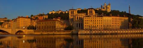 Vieux Lyon Panorama Stock Photos