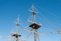 Vieux mât de bateau Photographie stock libre de droits