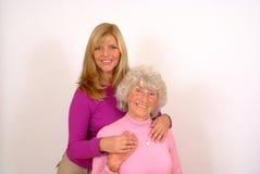 Vieux mère et descendant Photo stock