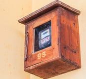 Vieux mètre électrique Photographie stock libre de droits