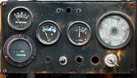 Vieux mètre industriel photographie stock libre de droits