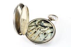 Vieux mécanisme d'horloge Photo stock