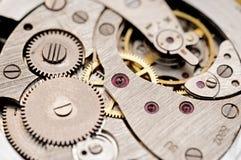 Vieux mécanisme de montre de poche Images stock
