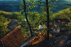 Vieux ménage de Serbie Photographie stock libre de droits