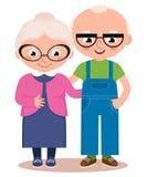 Vieux ménages mariés d'isolement sur un fond blanc Photos libres de droits