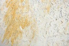 Vieux métal blanc rouillé superficiel par les agents riveté Image stock