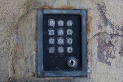 Vieux métal d'interphone image libre de droits