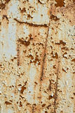 Vieux métal endommagé et superficiel par les agents ou S peint par acier Image libre de droits