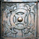 Vieux métal et porte rouillée Images libres de droits