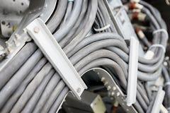 Vieux métier à tisser de câble Photo stock
