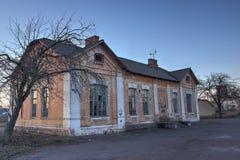 Vieux magasin abandonné à la ville fantôme Photos libres de droits